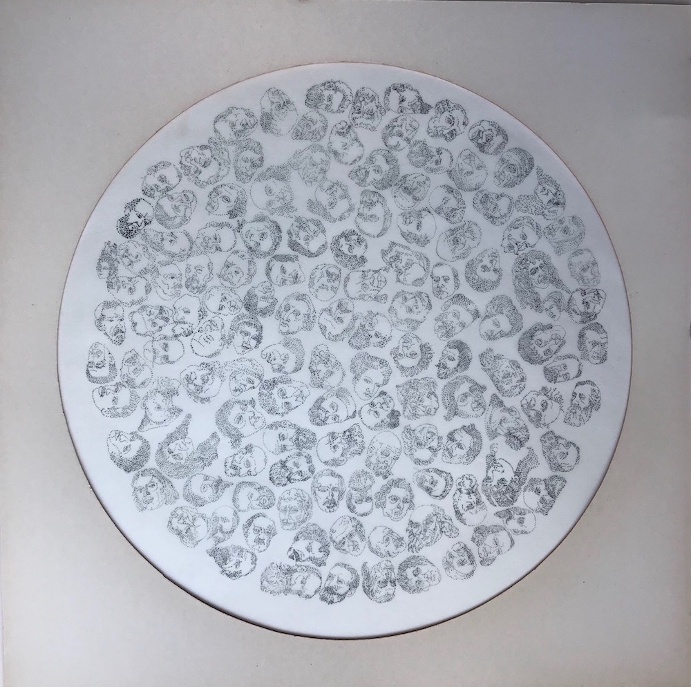 Circles-Token-Women-Series-Runner-Up-in-OverDrawn-Drawing-Prize-2019-0.05-Pigment-Liner-on-Translucent-paper-Framed-40-x-40-cm-.2018